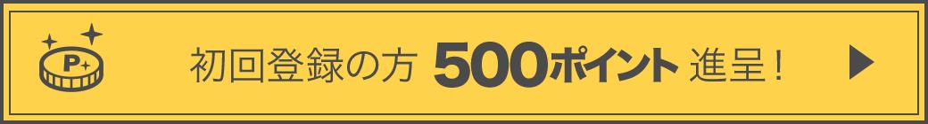 初回登録の方 500ポイント進呈